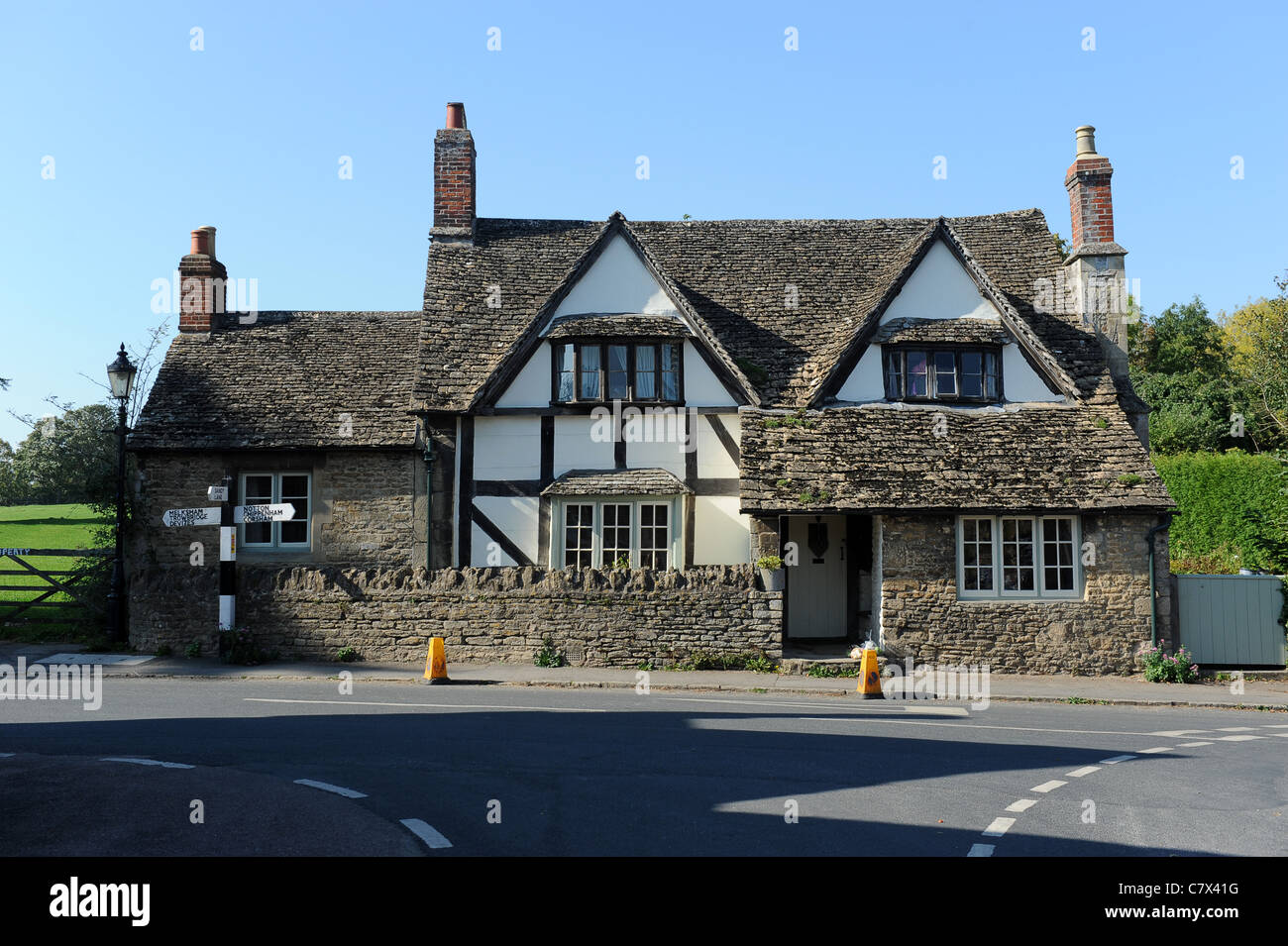 Country cottage in the Village of Lacock Wiltshire Uk - Stock Image