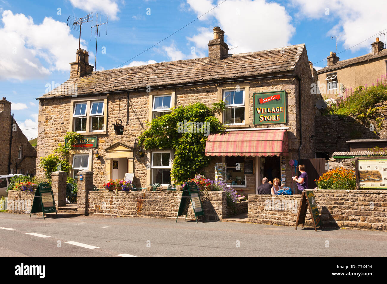 The village store at Muker in Swaledale in North Yorkshire , England , Britain , Uk - Stock Image