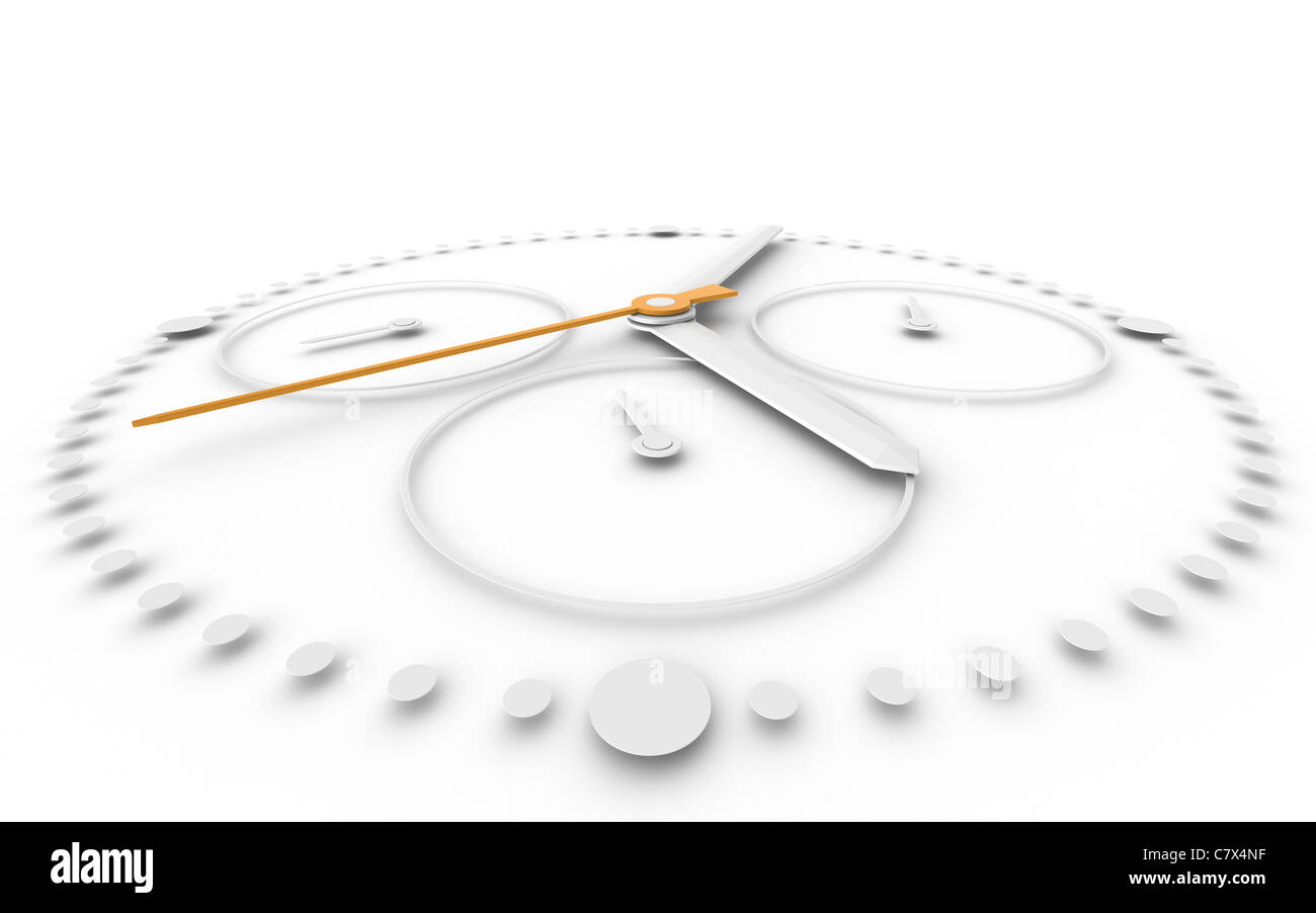 Perspctive view och Chronograph Watch. Orange and White - Stock Image