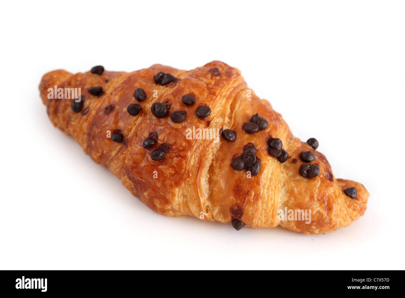 Croissant au chocolat Chocolate Croissant - Stock Image