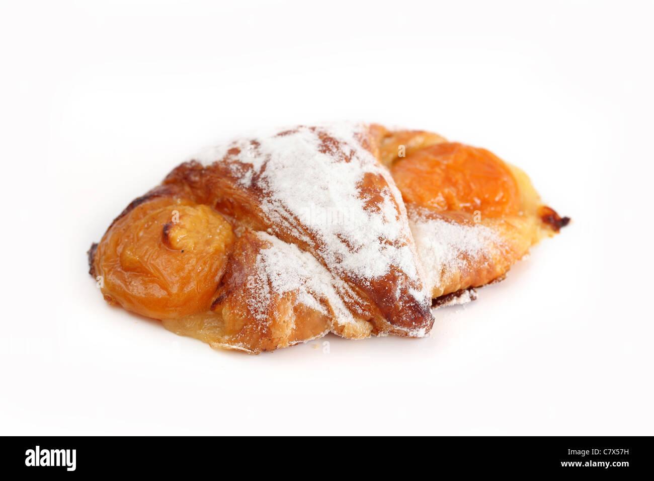 Croissant aux abricots Apricot growing - Stock Image