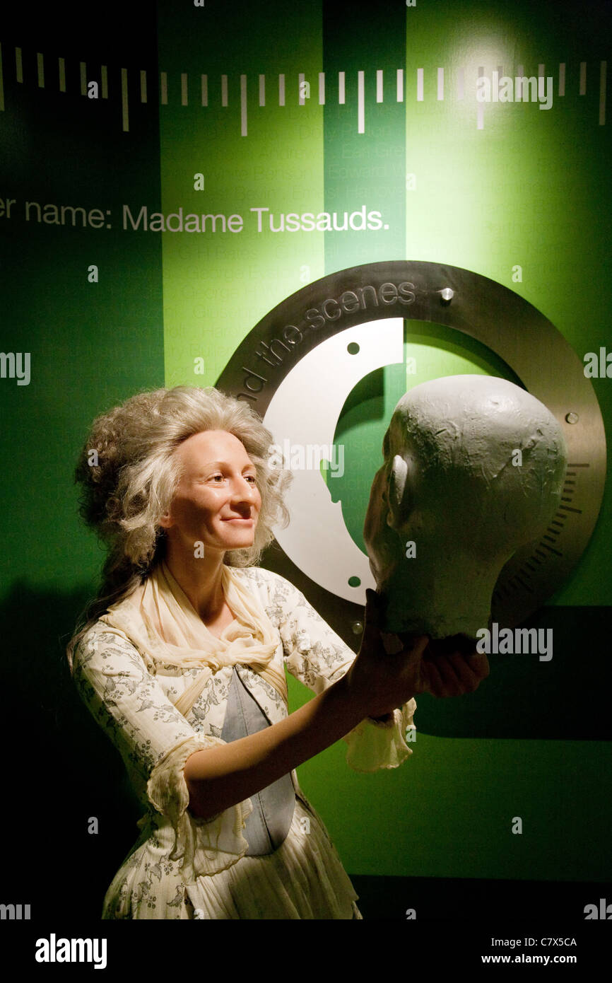 Waxwork of Madame Tussaud herself at Madame Tussauds waxworks, Washington DC USA - Stock Image