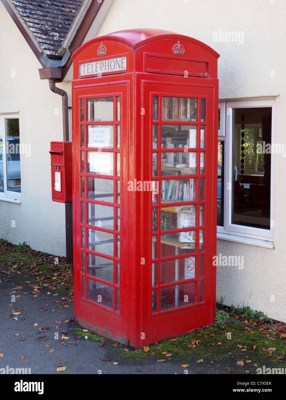Book Exchange, Lea Wiltshire - Stock Image