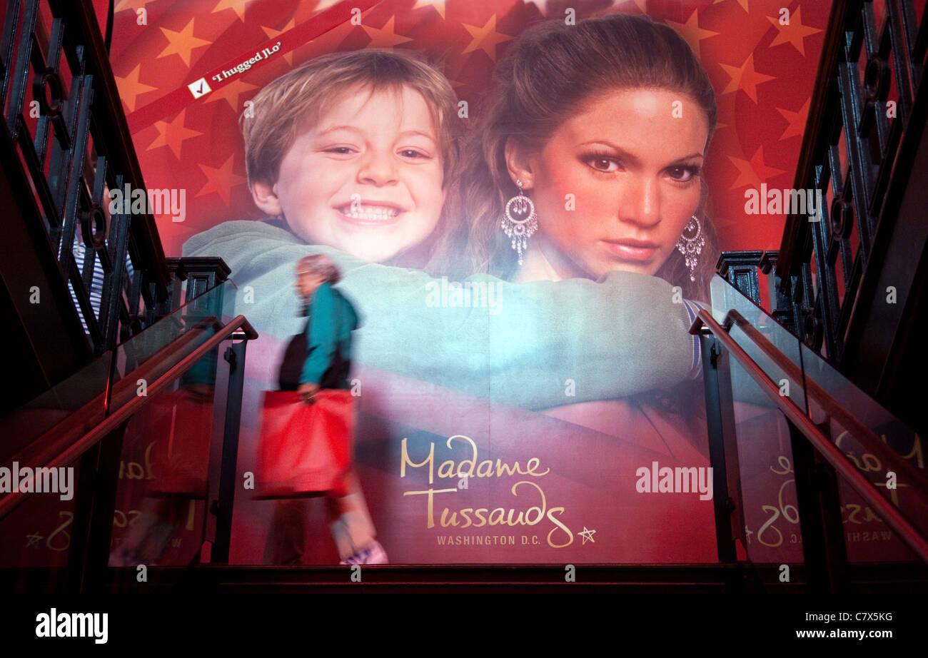 Scene at Madame Tussauds waxworks, Washington DC USA Stock Photo