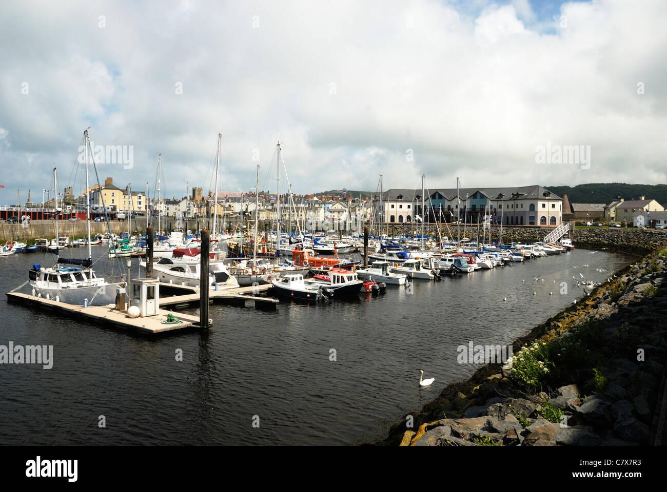 Aberystwyth marina, Wales - Stock Image