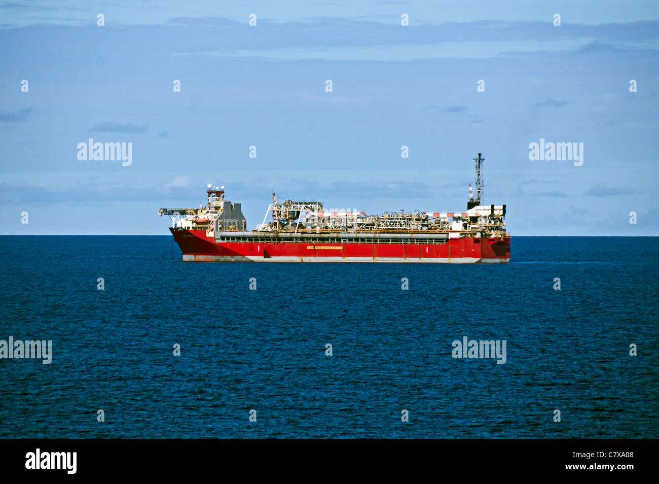 Maersk Oil UK Ltd owned Global Producer 3 vessel anchored in the British section of the North Sea - Stock Image
