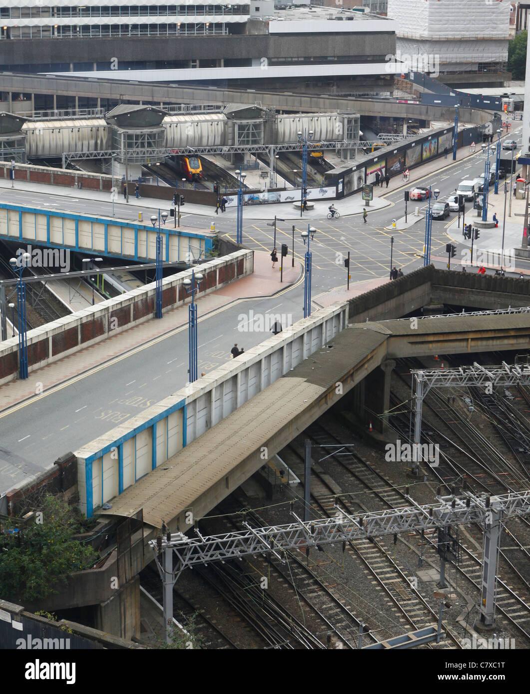 New Street Railway Station, Birmingham City Centre, England - Stock Image