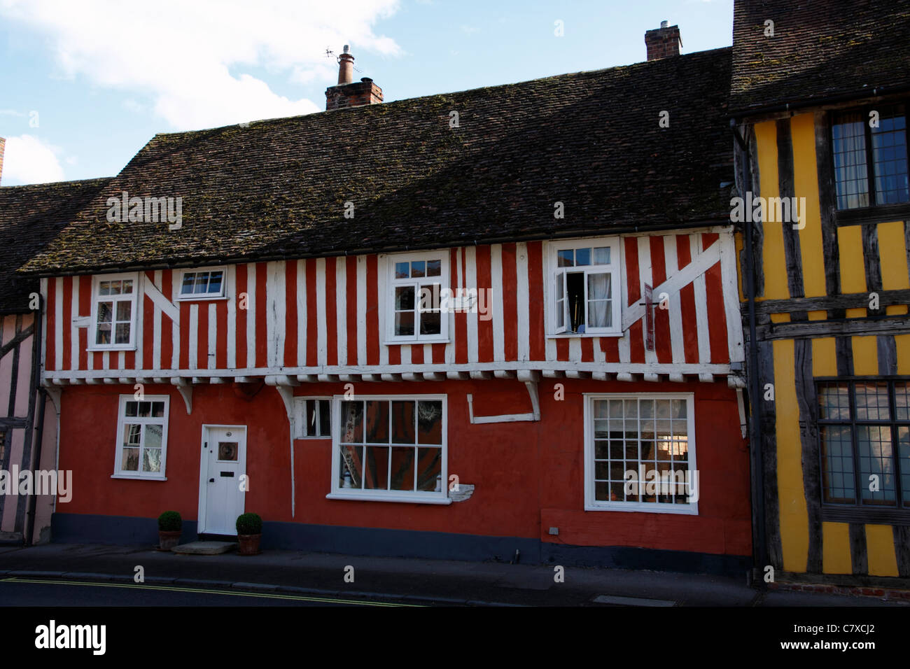 Typical timber framed building in Lavenham Suffolk - Stock Image