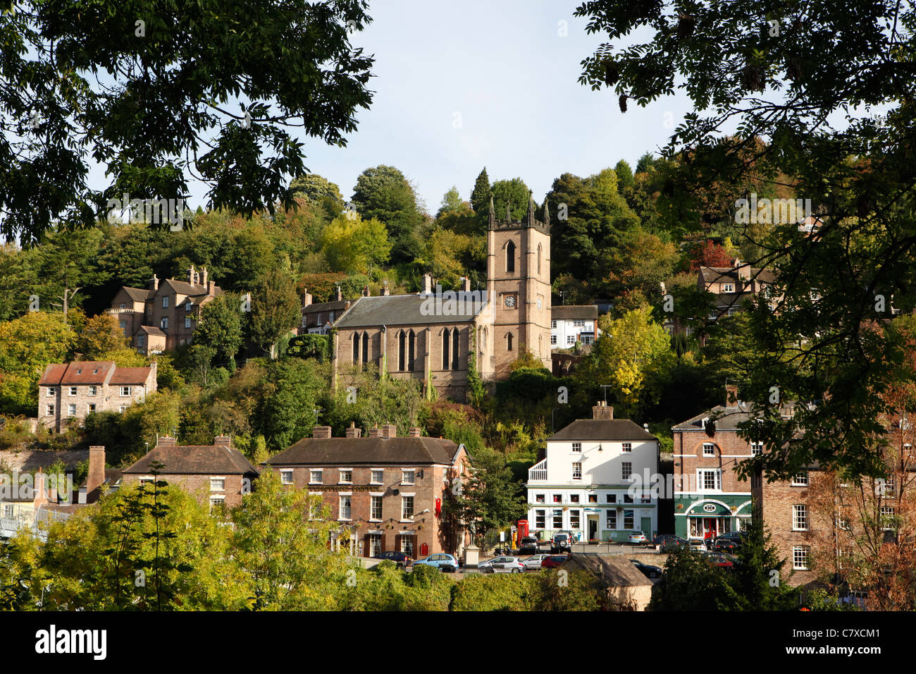 Ironbridge Gorge in Telford, Shropshire, England, World Heritage Site. - Stock Image
