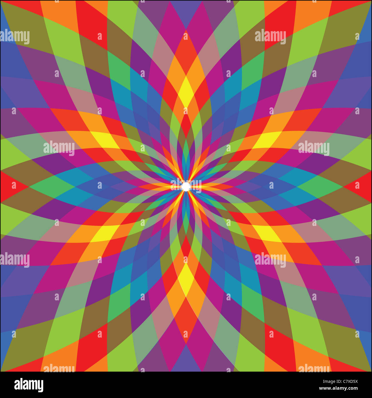 graphic flower, abstract vector art illustration - Stock Image
