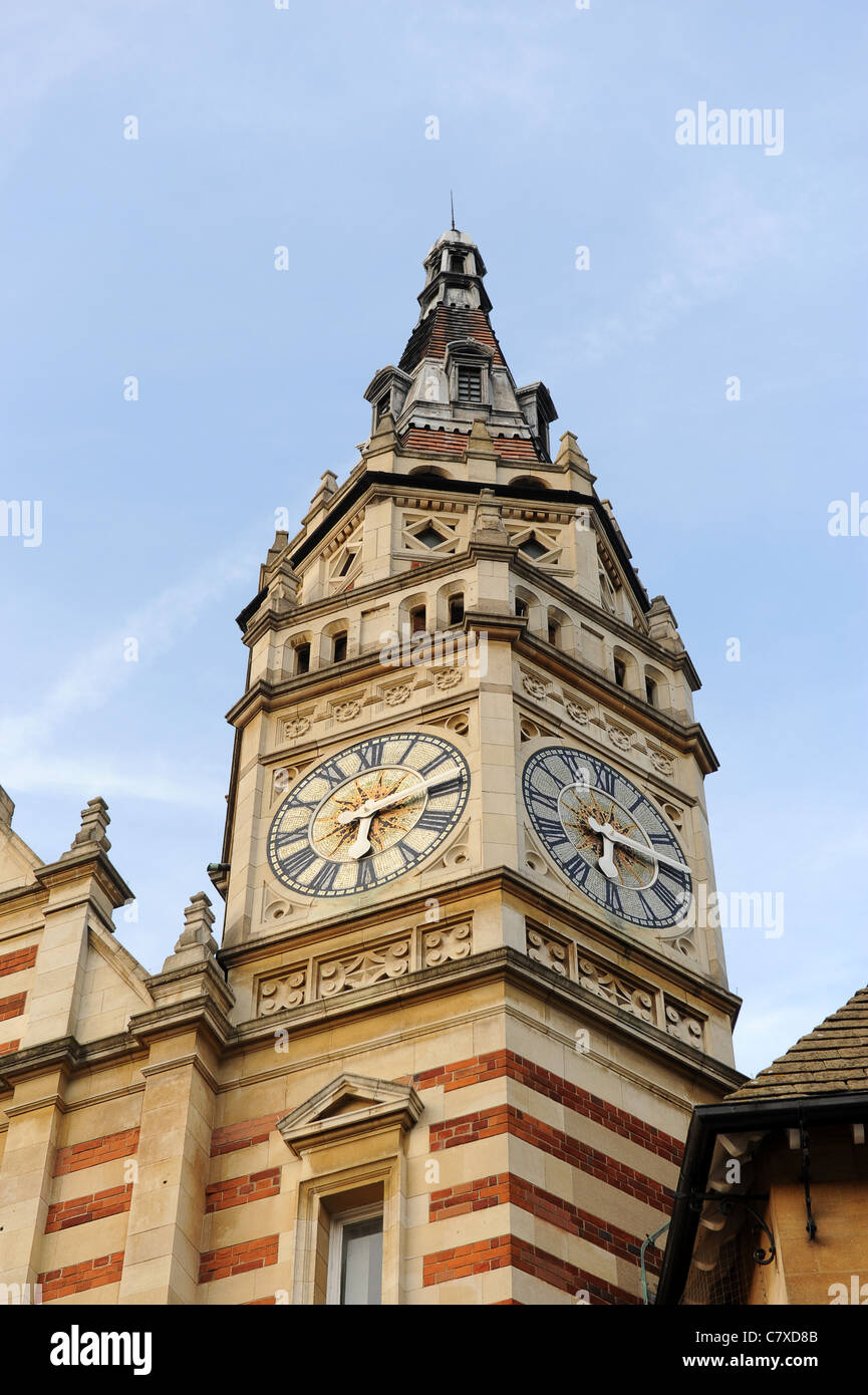 Clock tower in Sydney Street Cambridge England - Stock Image