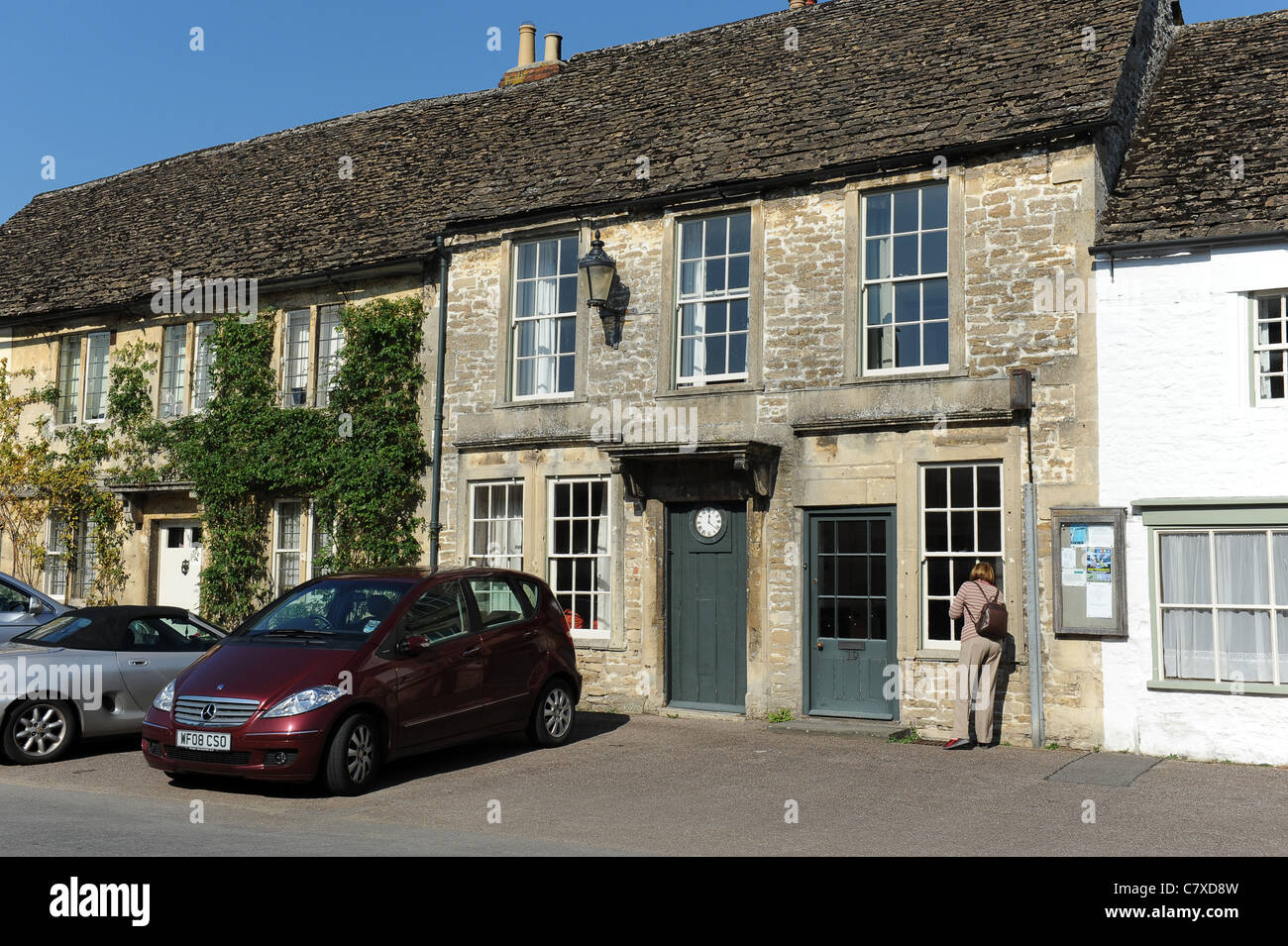 The Village of Lacock Wiltshire Uk - Stock Image