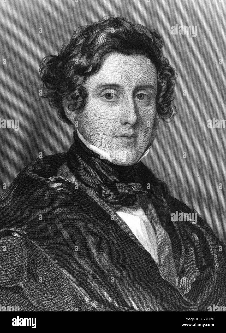 Anthony Ashley-Cooper, 7th Earl of Shaftesbury (1801-1885) on engraving from 1837. English politician and philanthropist. Stock Photo