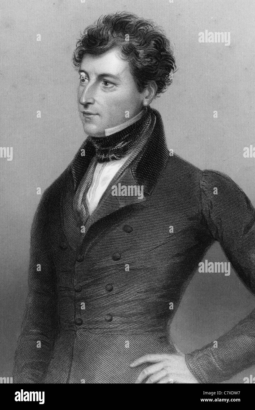 Frederic Thesiger, 1st Baron Chelmsford (1794-1878) on engraving from 1837. British jurist and Conservative politician. - Stock Image