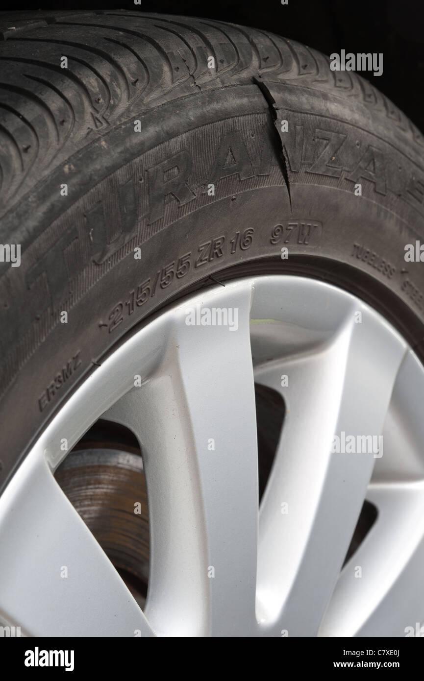 Slashed Tire Stock Photos Slashed Tire Stock Images Alamy