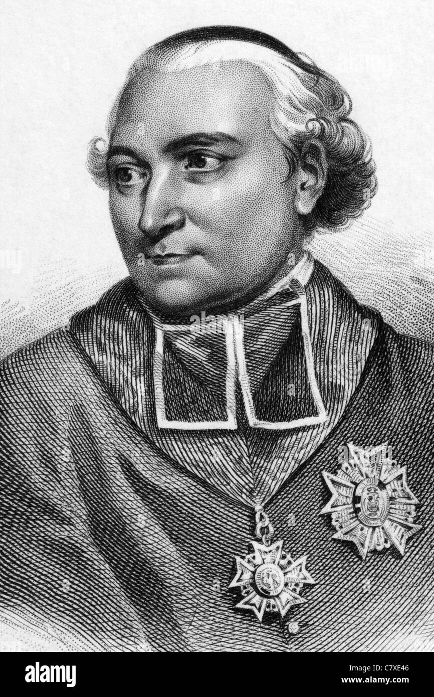 Joseph Fesch (1763-1839) on engraving from 1836. French cardinal, closely associated with the family of Napoleon - Stock Image