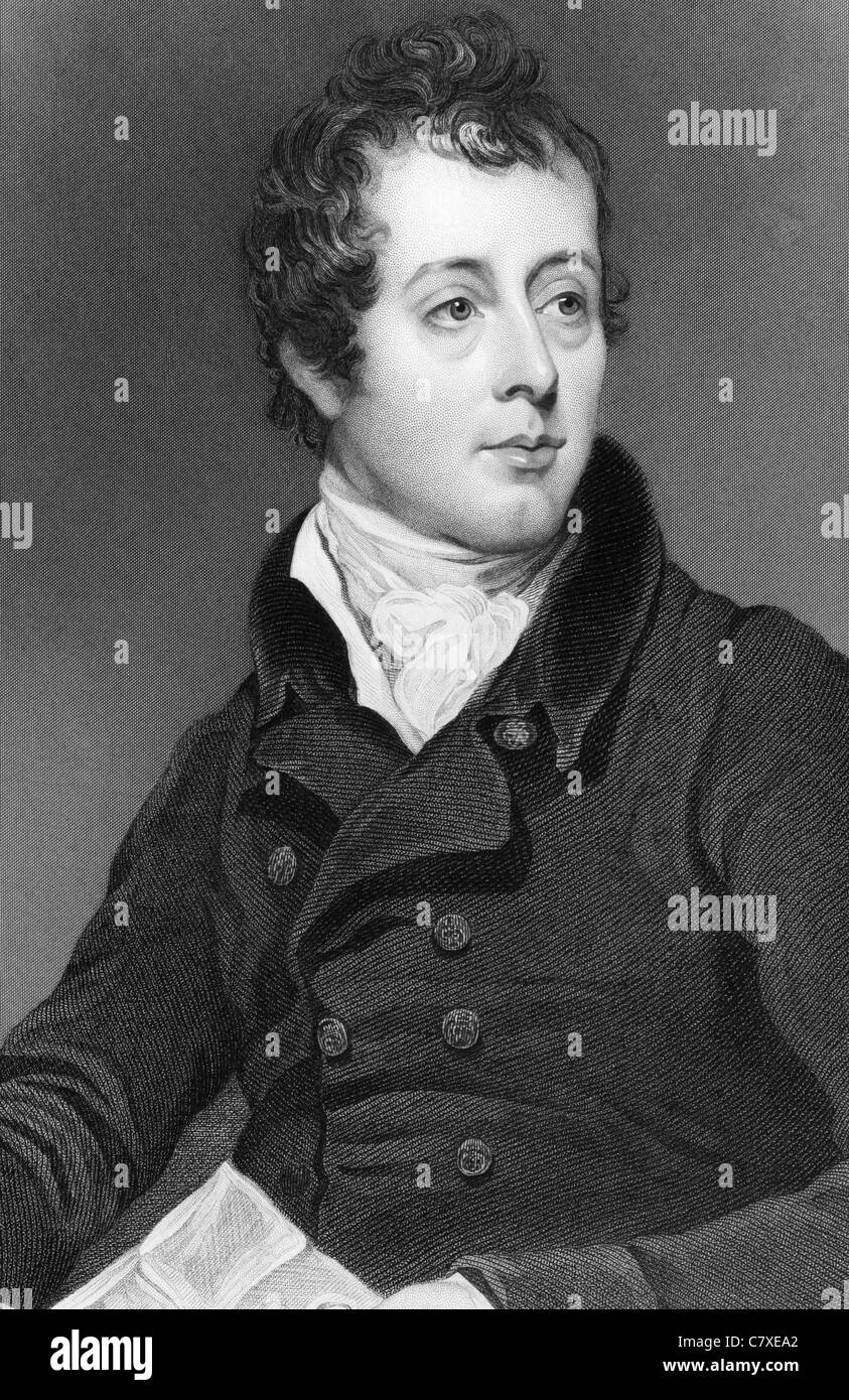 Robert Fitzwygram (1773-1843) on engraving from 1837. Director of the Bank of England and a Tory politician. - Stock Image