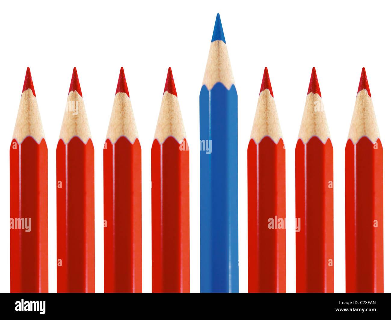 Lápices de colores Colored pencils - Stock Image