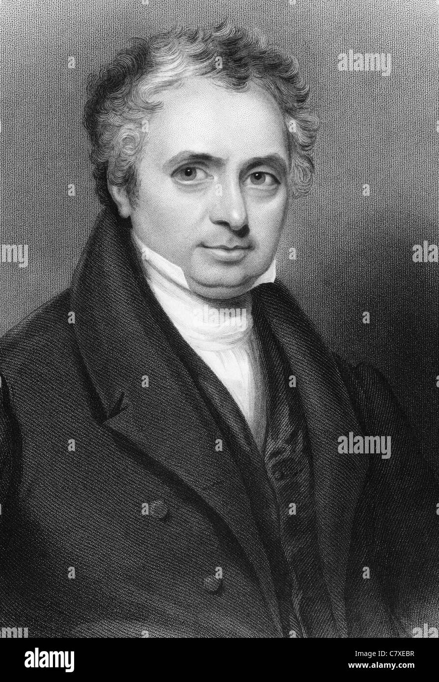 William Holmes (1779-1851) on engraving from 1837. British Tory politician of early 19th century and MP for 28 years. - Stock Image