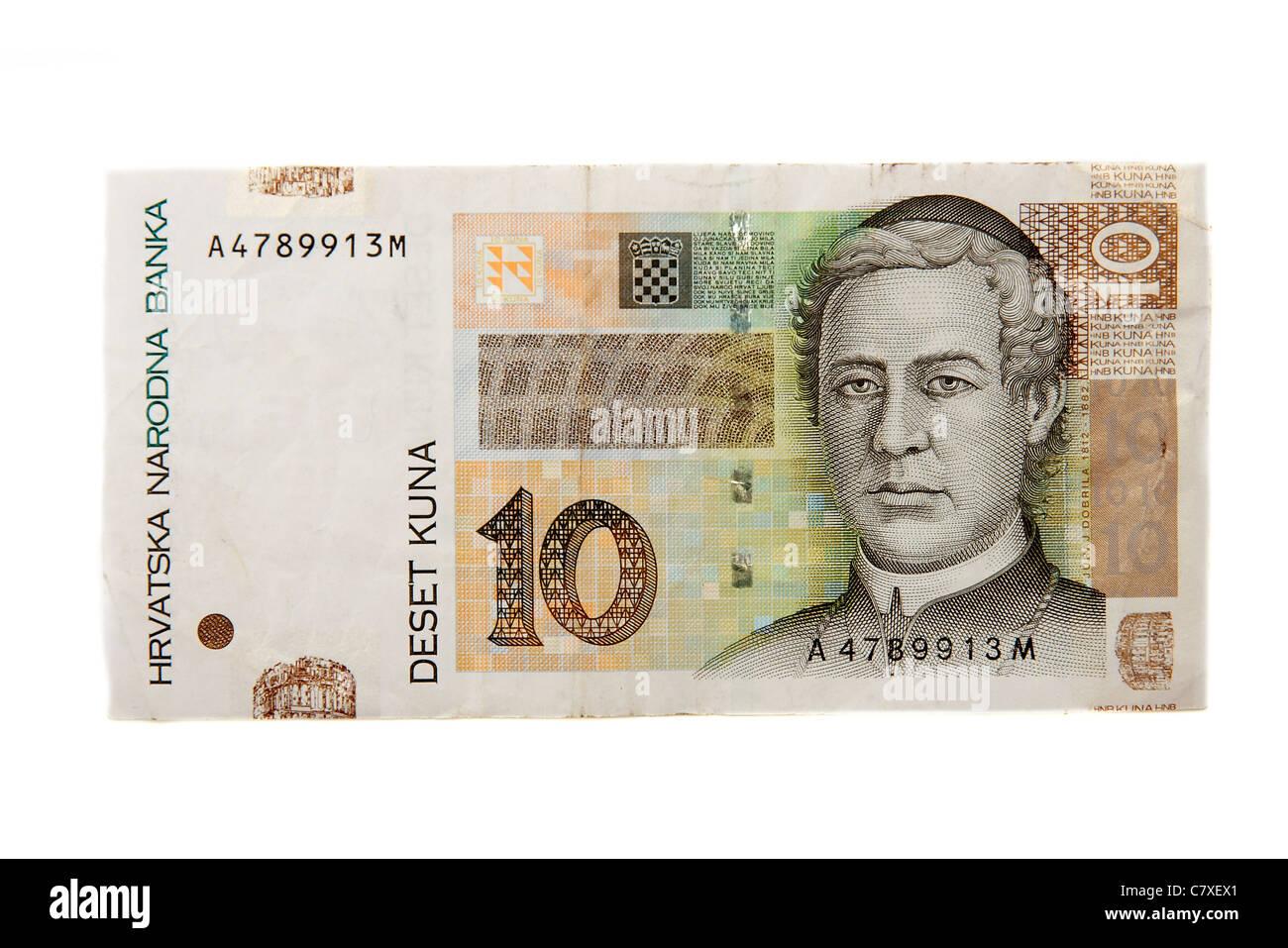 Banknote Of Croatia Stock Photos Banknote Of Croatia Stock