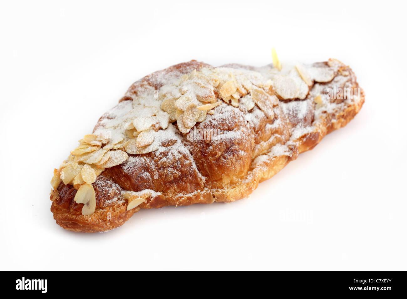 Croissant aux amandes Almond croissant - Stock Image