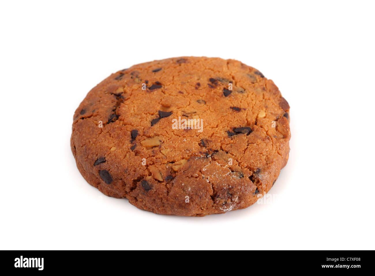 Biscuit noisettes chocolat Chocolate hazelnut biscuit - Stock Image