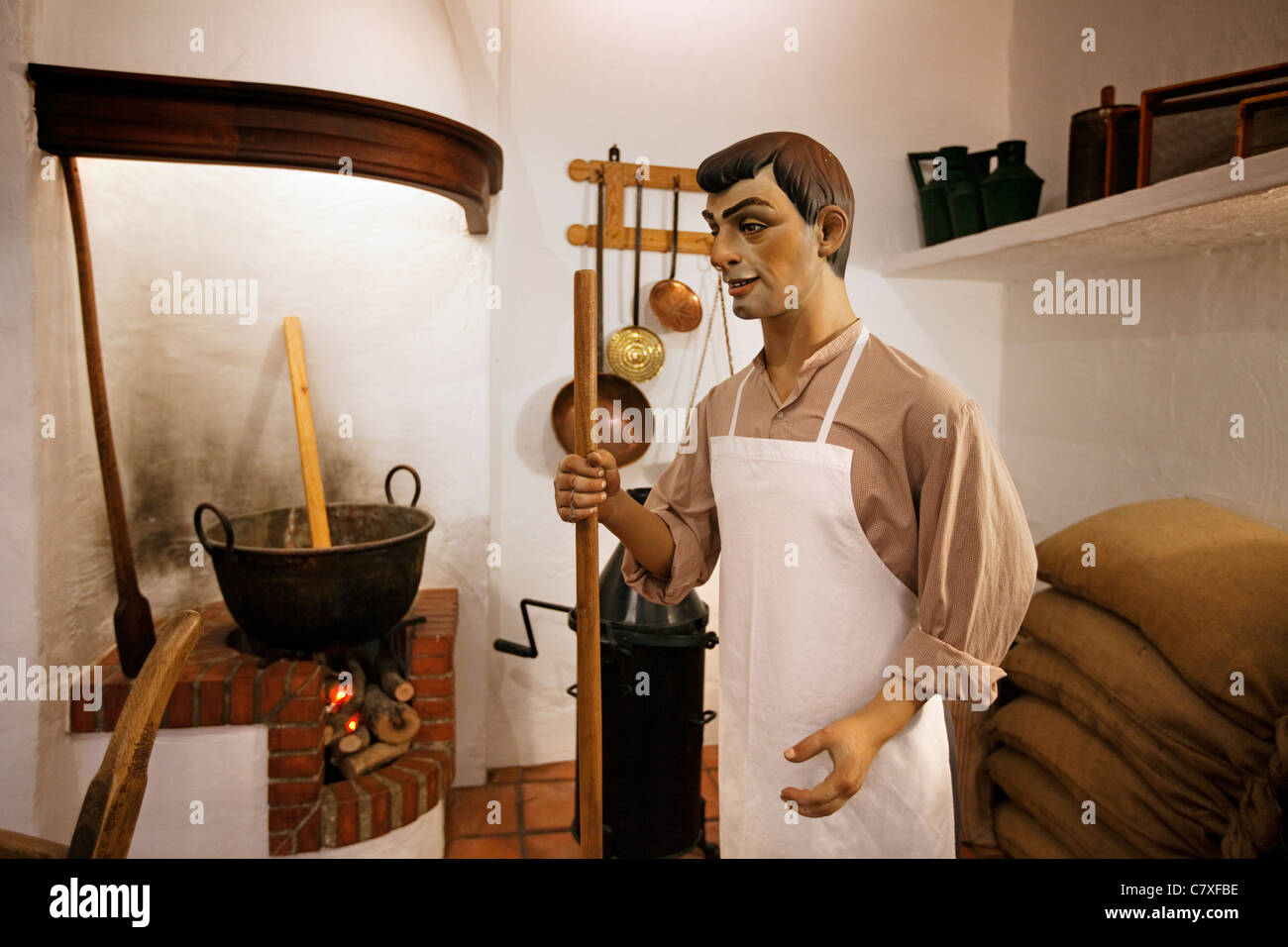 Museum of artisan mantecado Estepa Sevilla Andalusia Spain - Stock Image