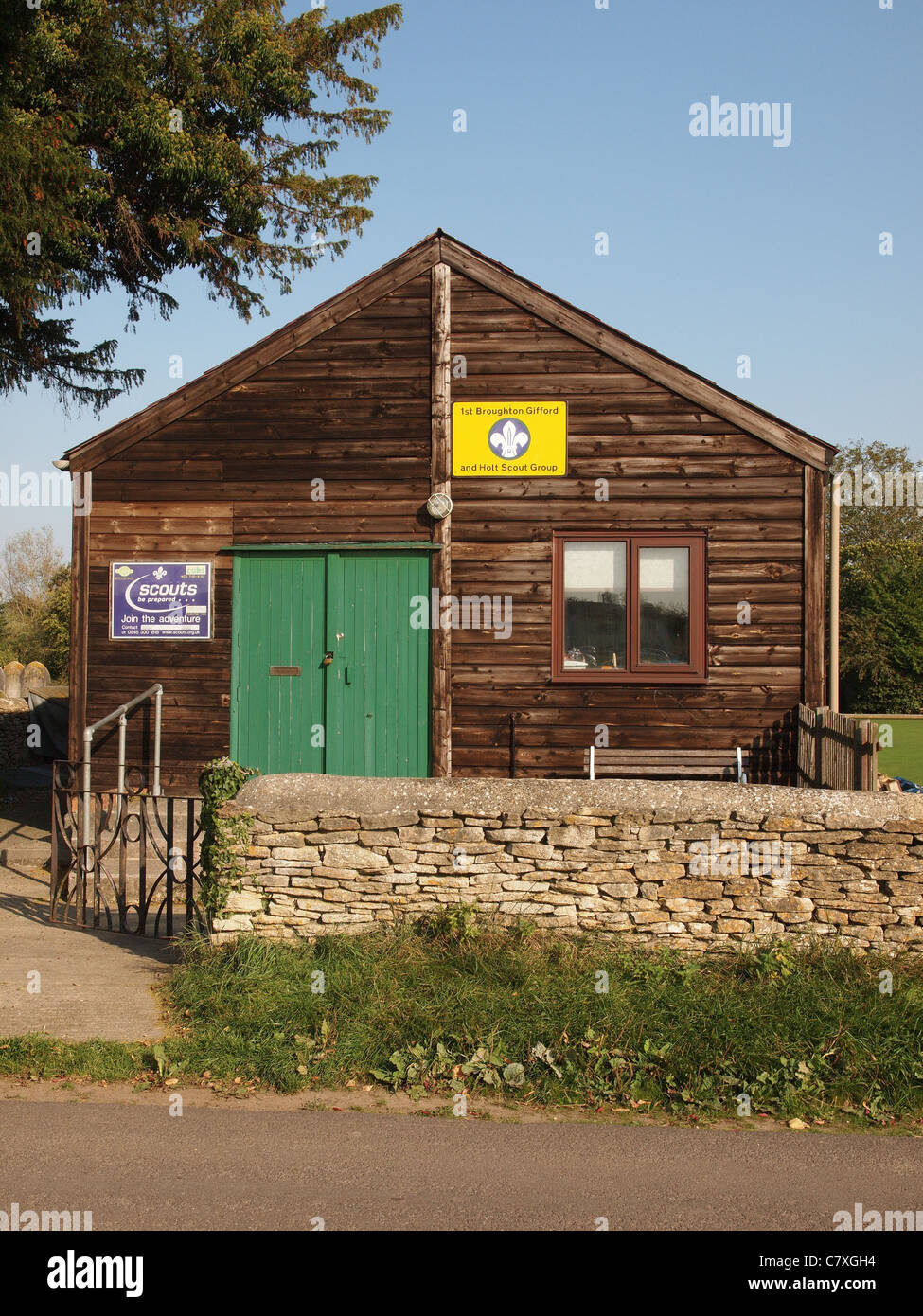Scout Hut Broughton Gifford - Stock Image
