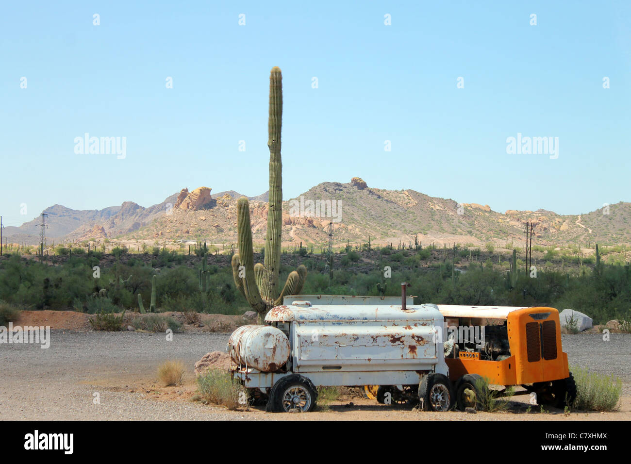 Old times in the desert - Stock Image