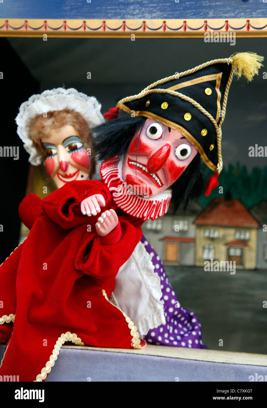 Punch and Judy Show at the Covent Garden Punch & Judy Festival in London - Stock Image