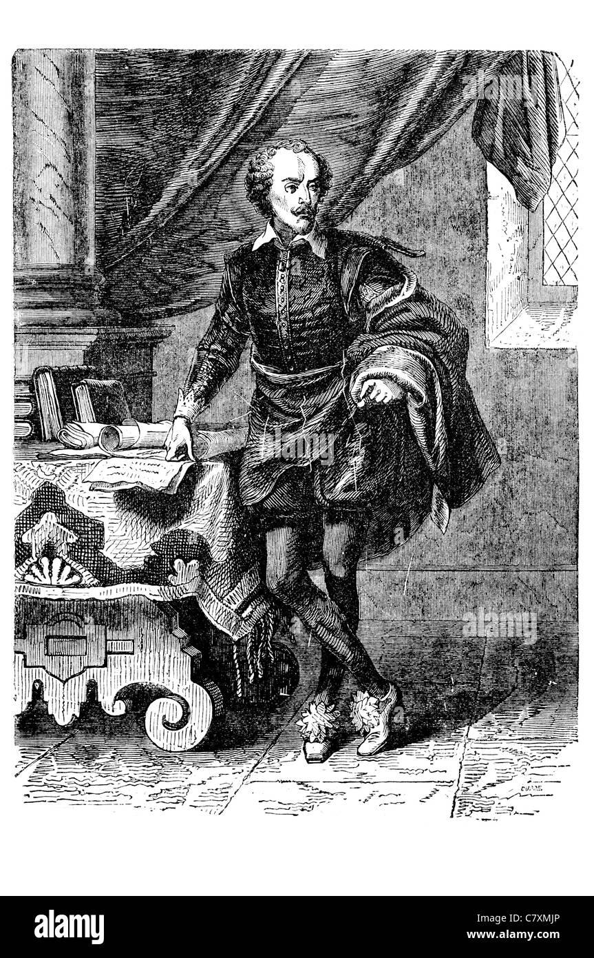 William Shakespeare 1564 1616 English poet playwright greatest writer English language Stock Photo