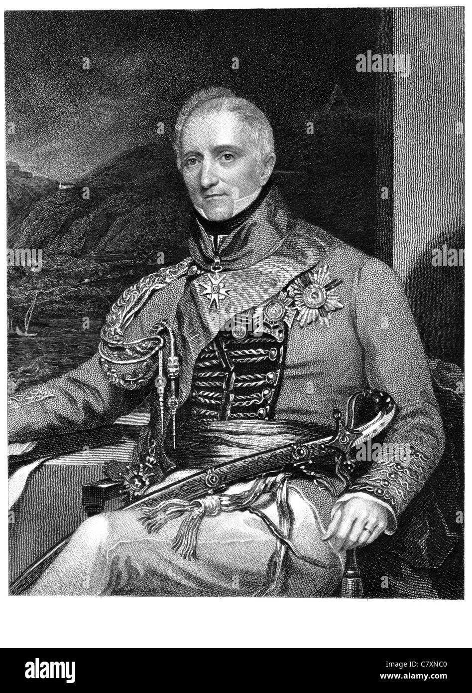 Sir Rufane Shaw Donkin GCH KCB 1773 1841 British army officer Napoleonic era Member of Parliament Battle of Talavera - Stock Image