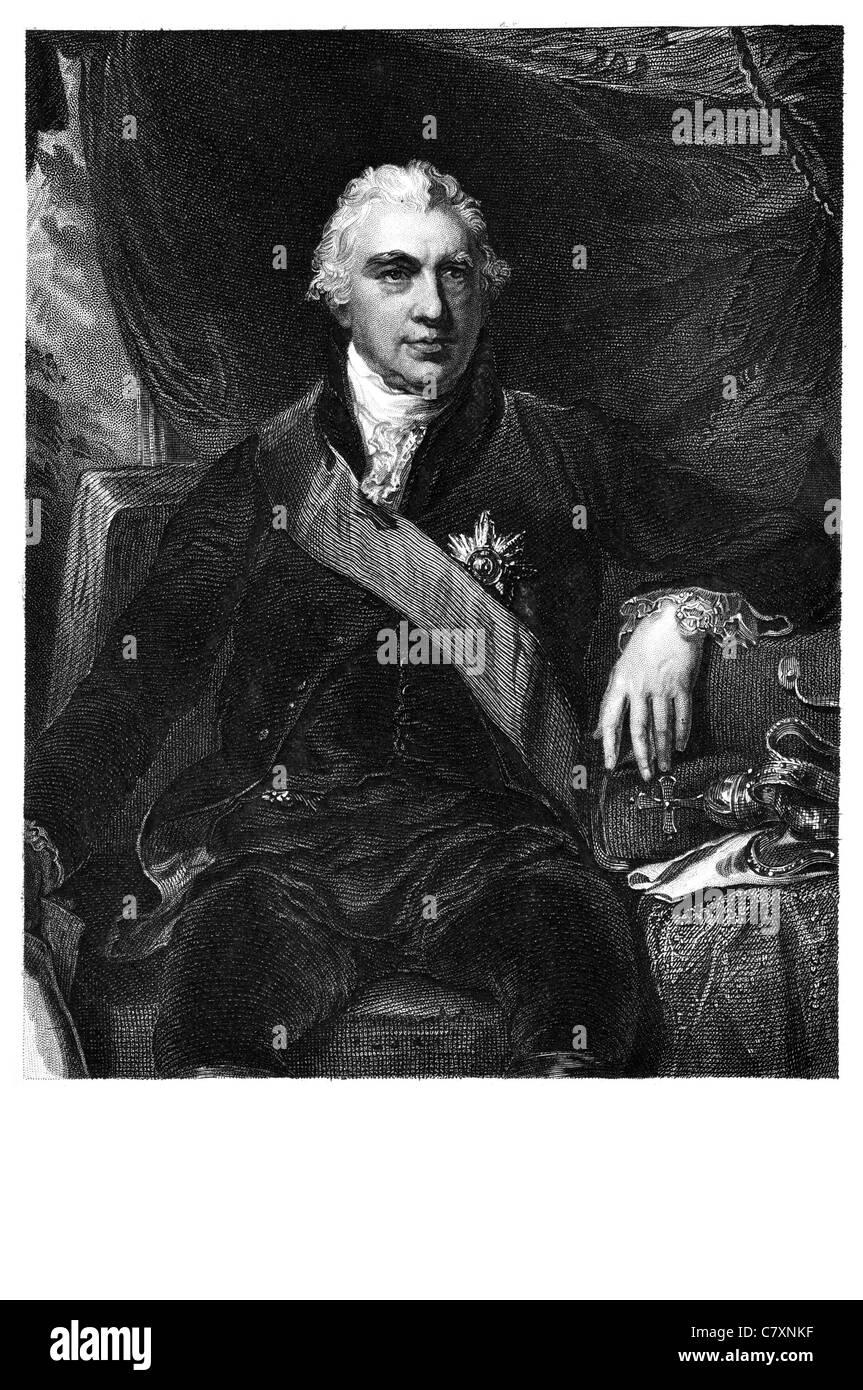 Sir Joseph Banks 1st Baronet 1743 1820 English naturalist botanist botany patron natural sciences Captain James - Stock Image