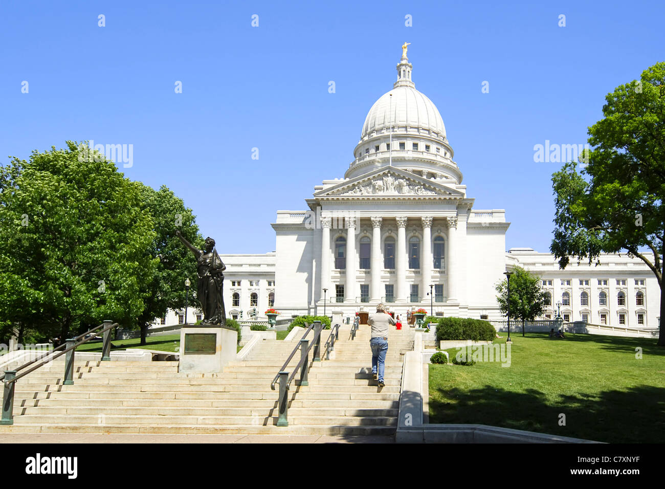 The Wisconsin State Capitol Building In Madison Wi Stock