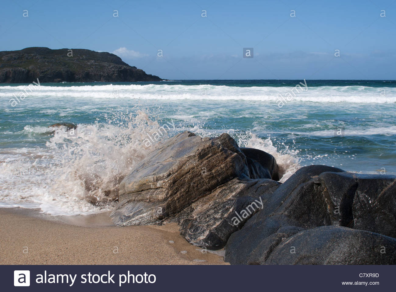 Traigh Mhor Beach, Tolsta, Lewis, Isles of Lewis and Harris, Outer Hebrides, aka Western Isles, Scotland, UK - Stock Image
