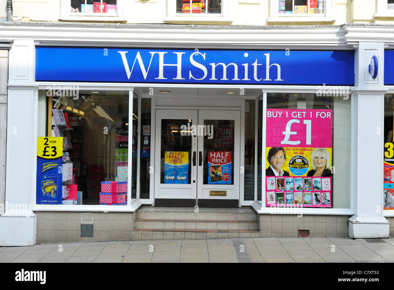 WH Smith shop in Norwich, England - Stock Image