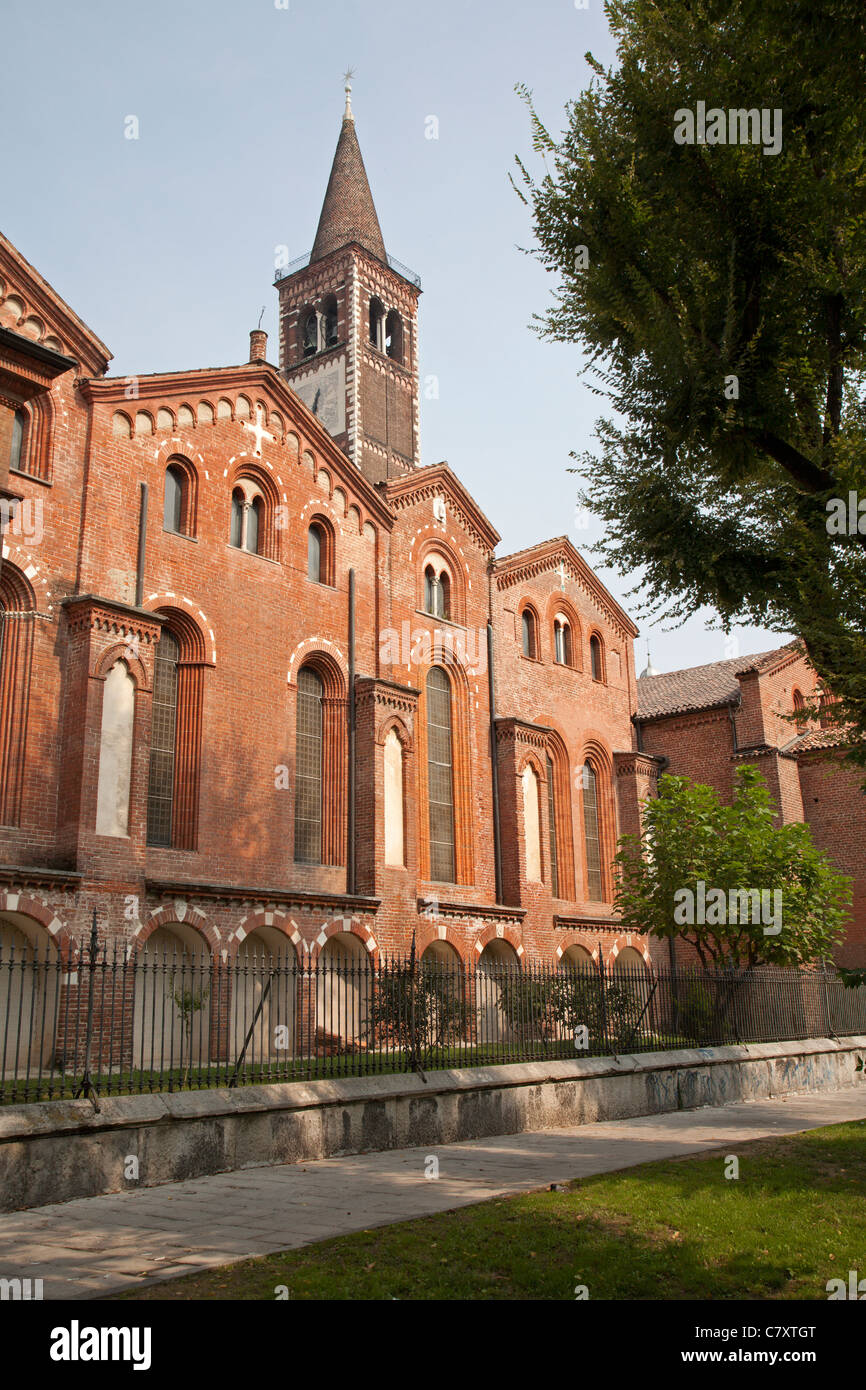 Milan - Sant Eustorgio church - Stock Image