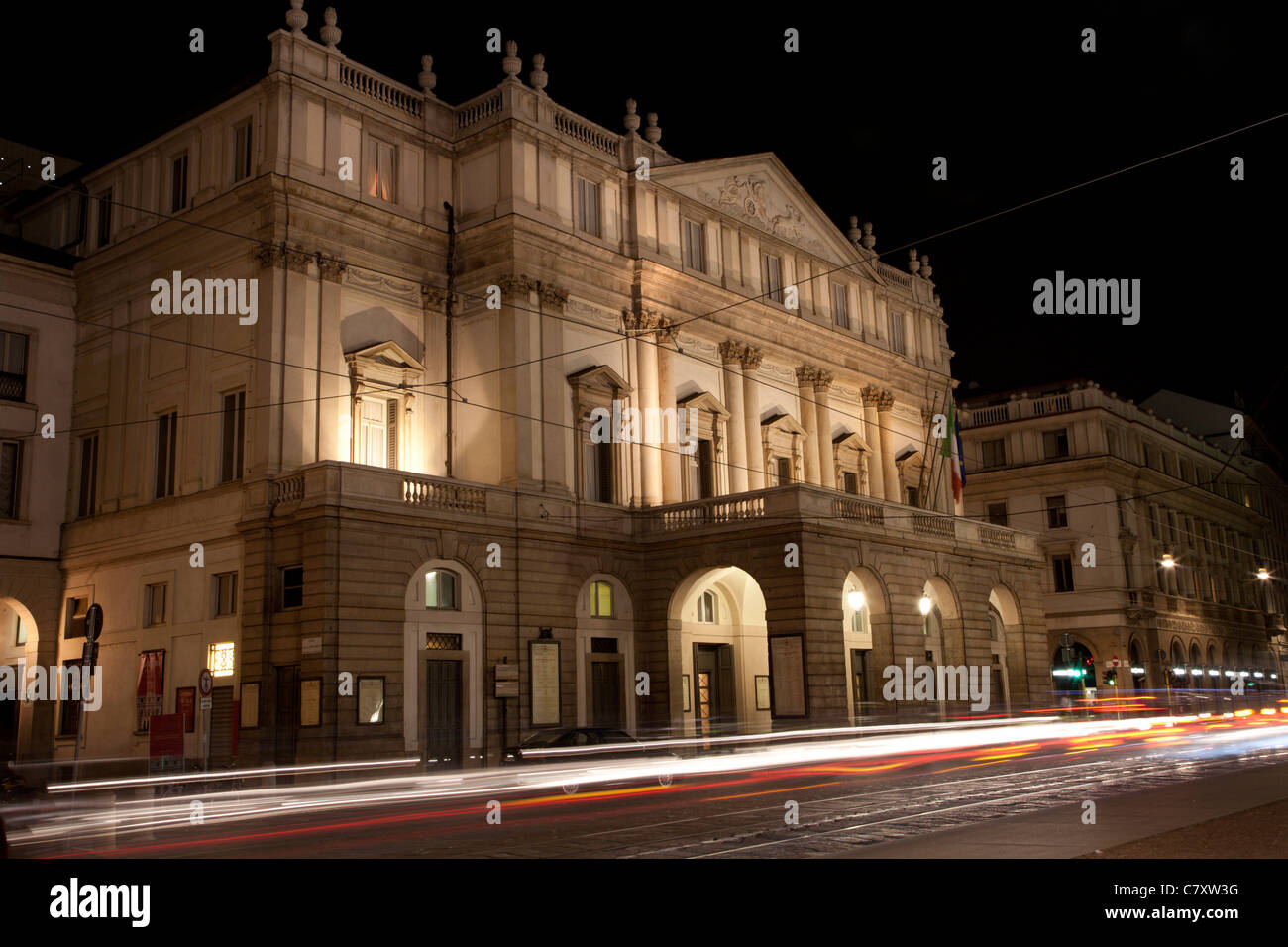 Milan - La Scala theater - Stock Image