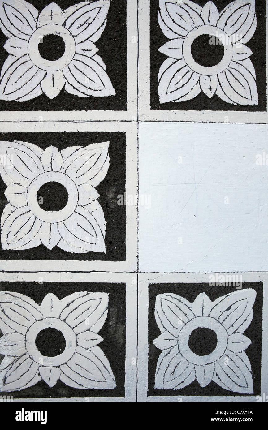decorative tiles detail, Eisenerz, Austria - Stock Image