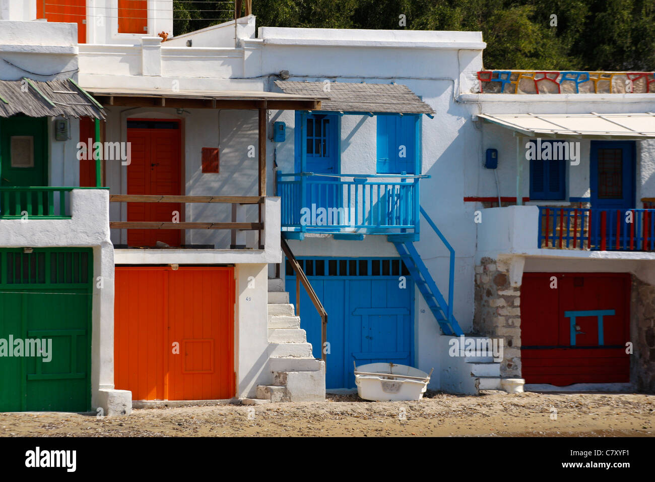 The picturesque village of Klima in Milos island Greece - Stock Image