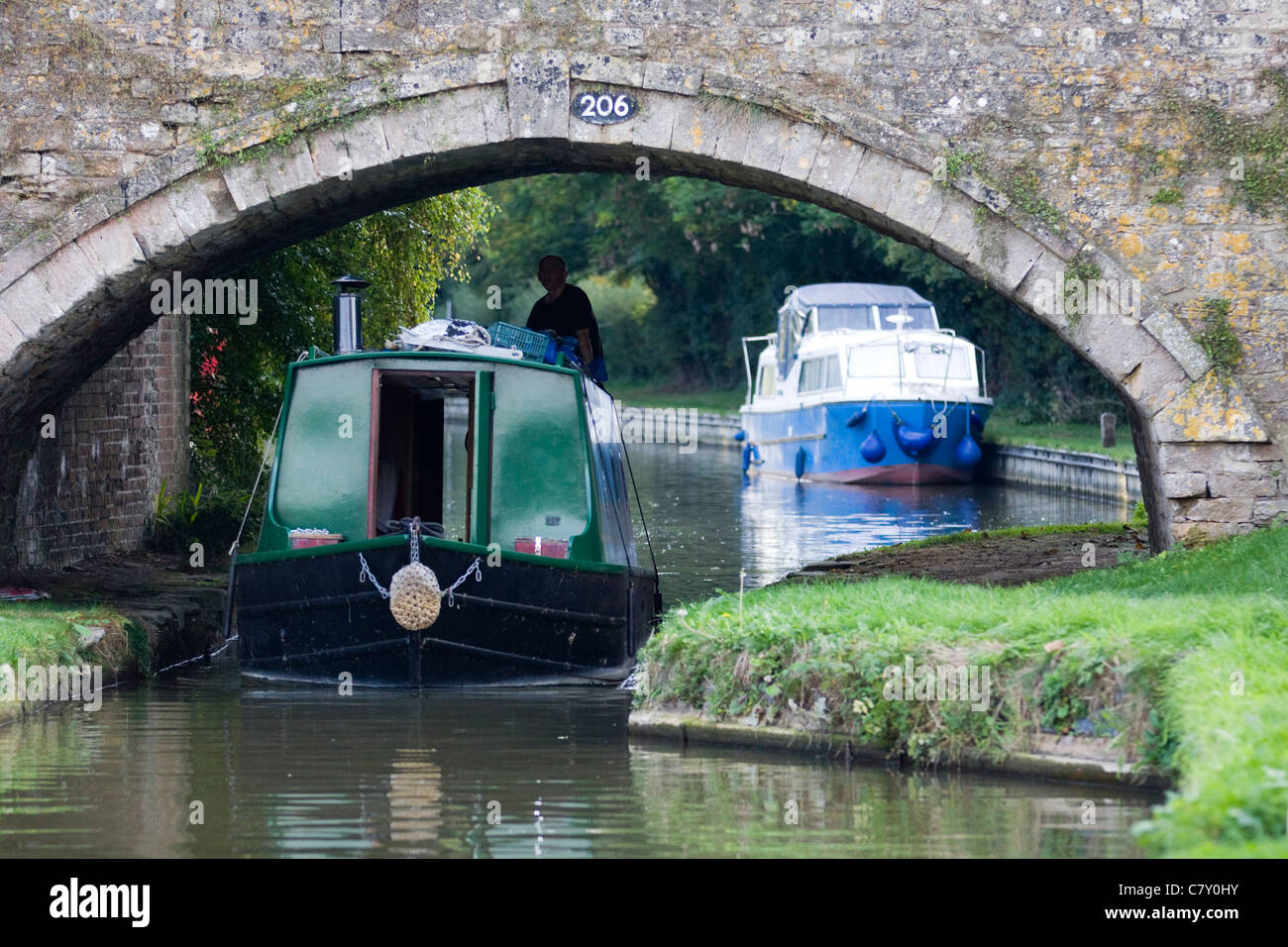 Canal Boats at the Canal day Celebrations in Banbury England - Stock Image