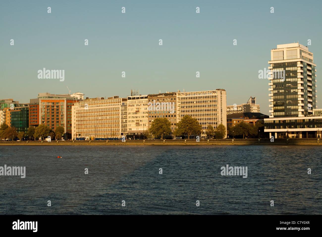 Albert Embankment, London, England, UK - Stock Image