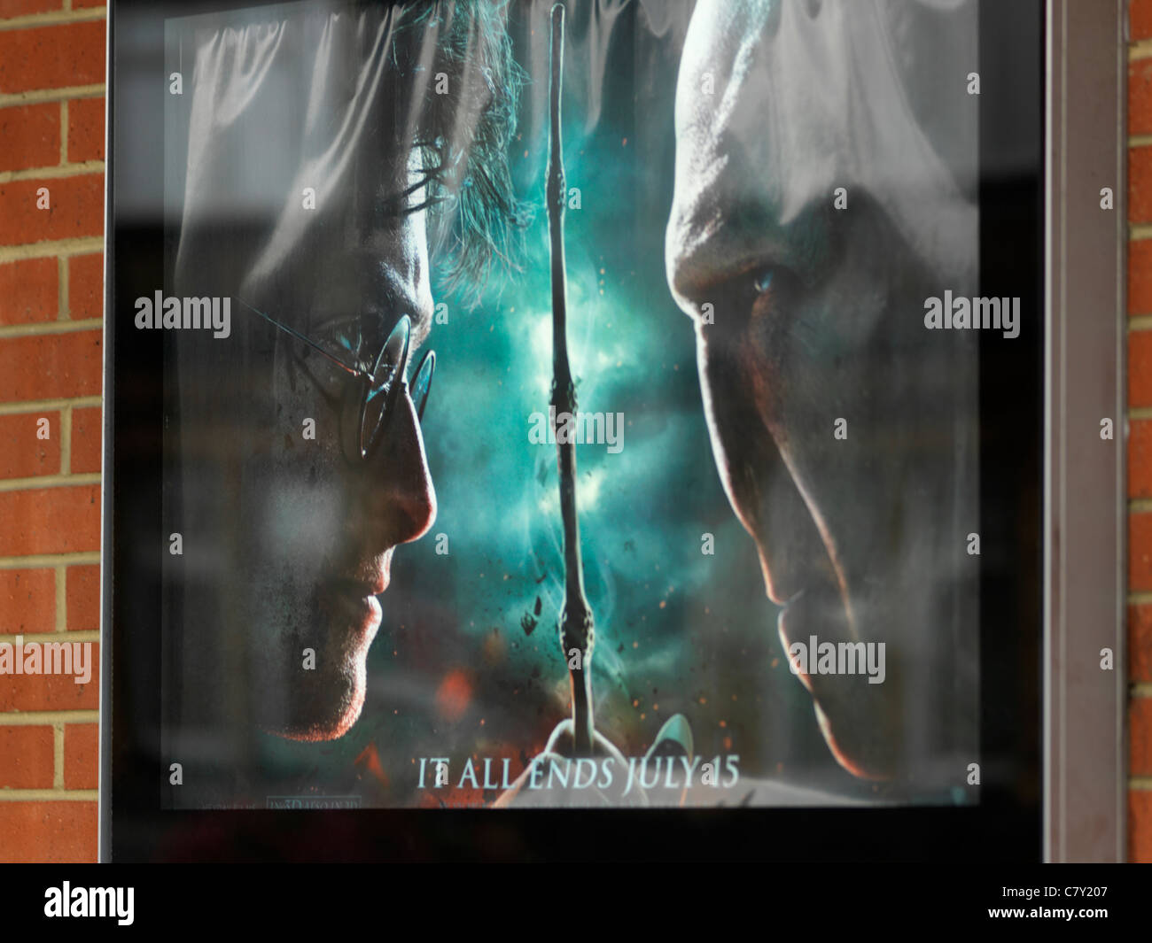 Cinema Poster Harry Potter And The Deathly Hallows - Stock Image