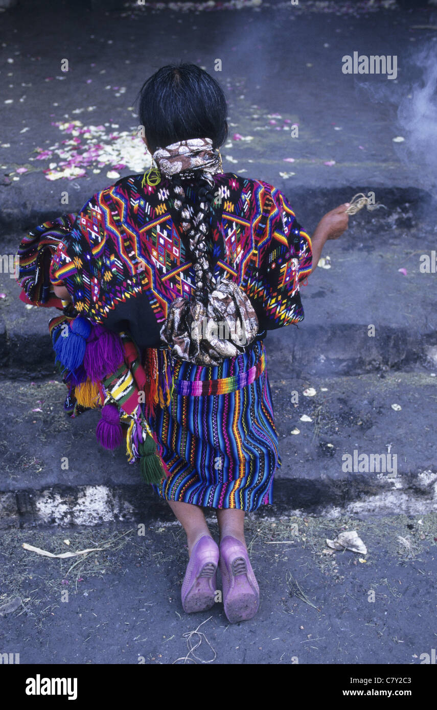 Guatemala, Chichicastenango, mayan ceremonies Stock Photo