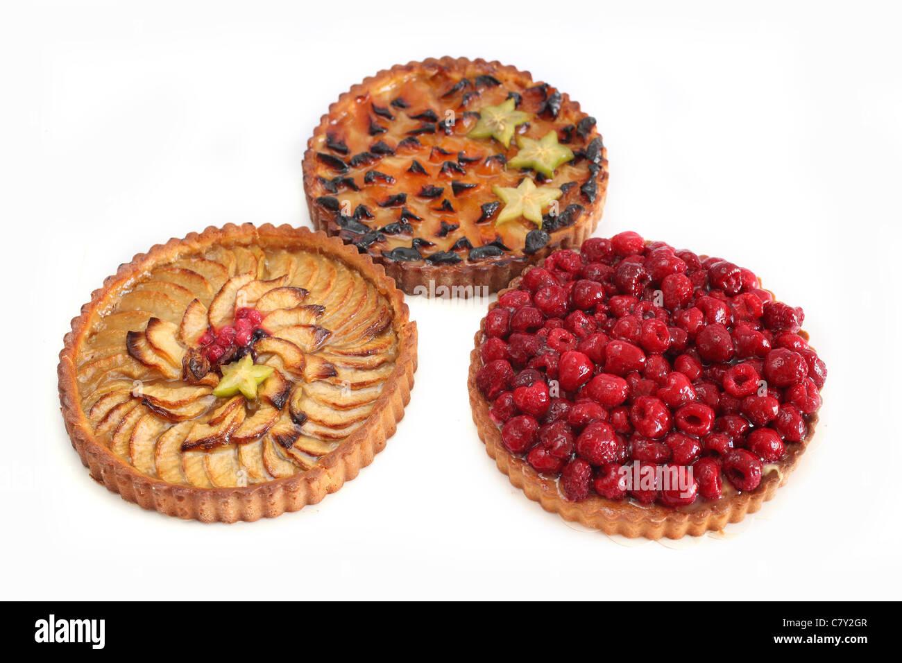 trois Tarte three tarts - Stock Image