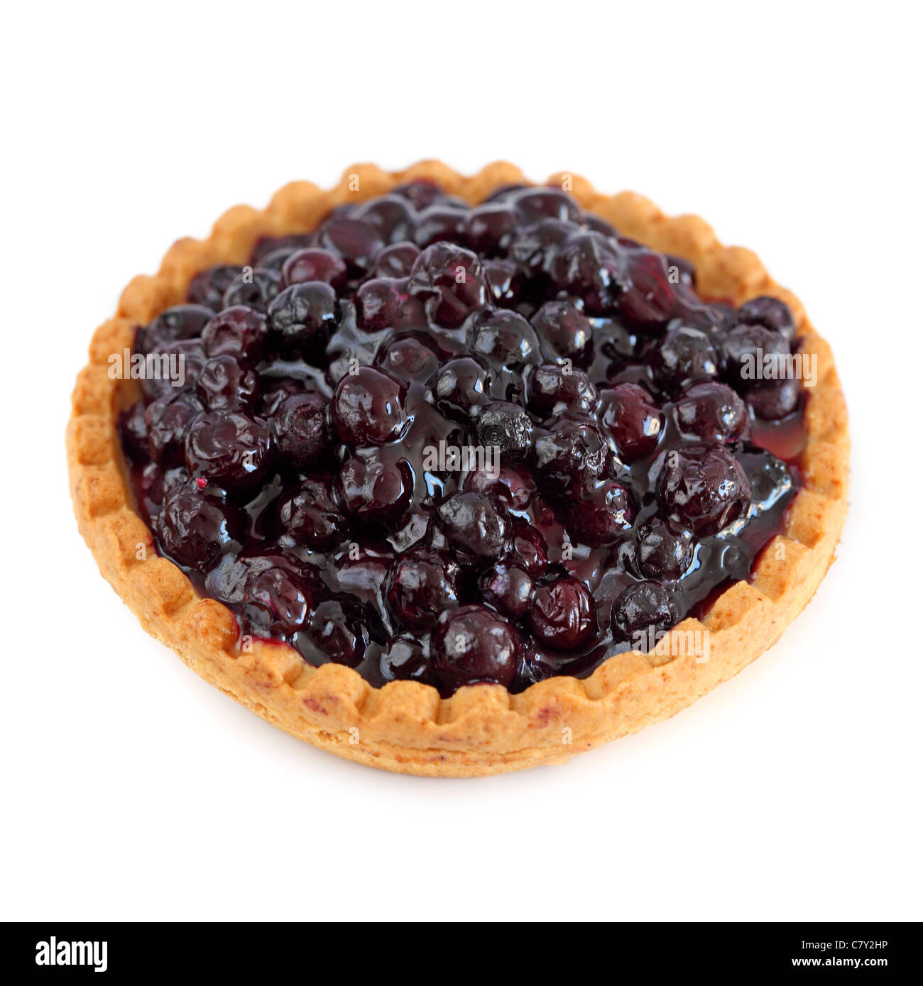 Tartelette aux myrtilles Blueberry tart - Stock Image