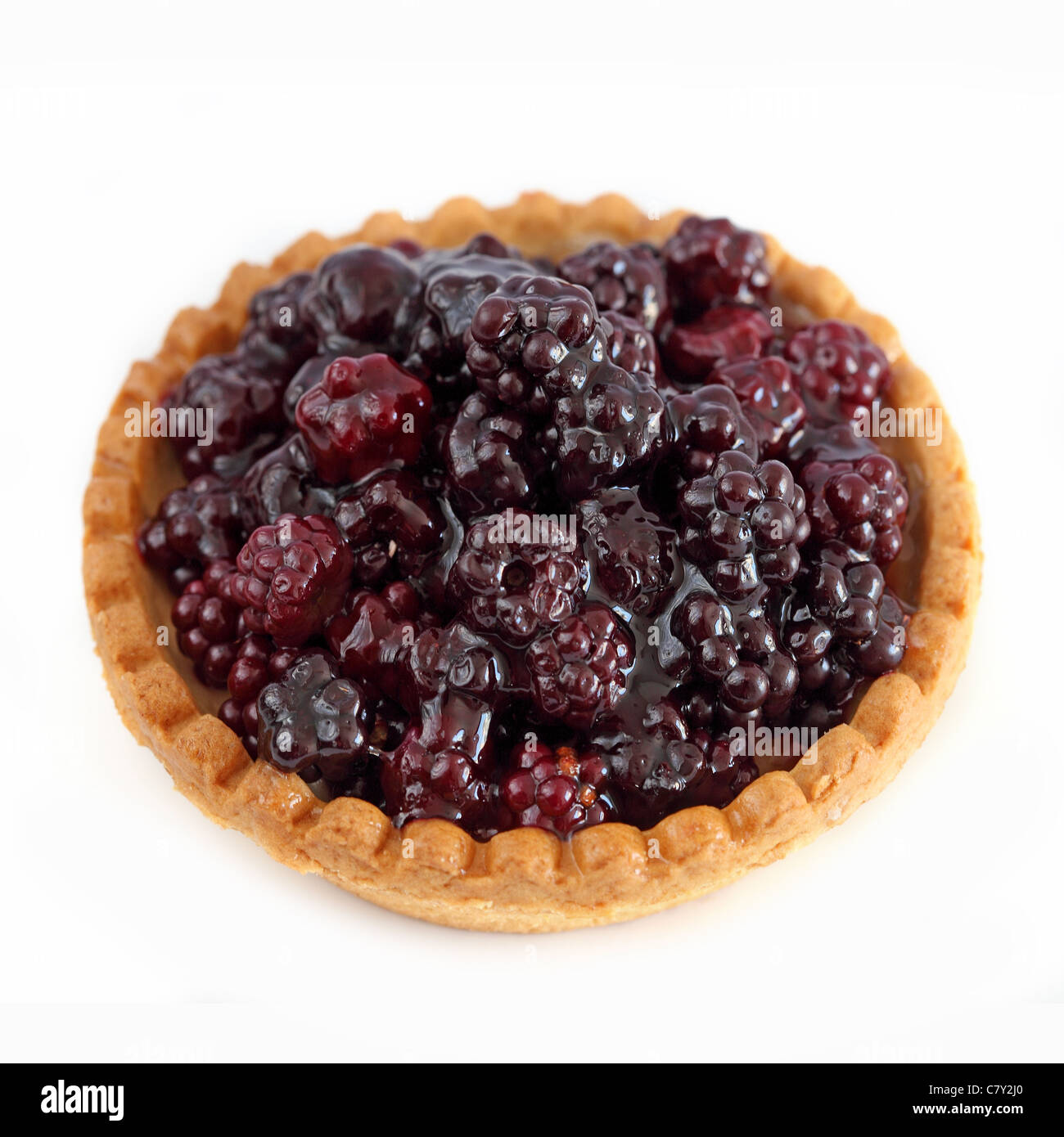 Tartelette aux mures Tart blackberries - Stock Image
