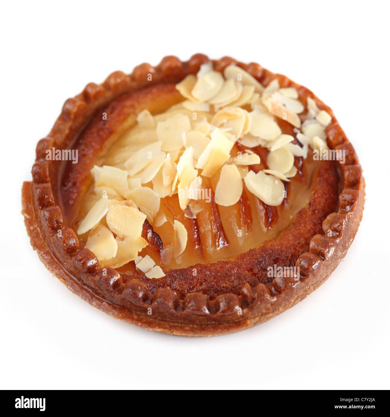 Tartelette poires-amandes Pear almond tart - Stock Image