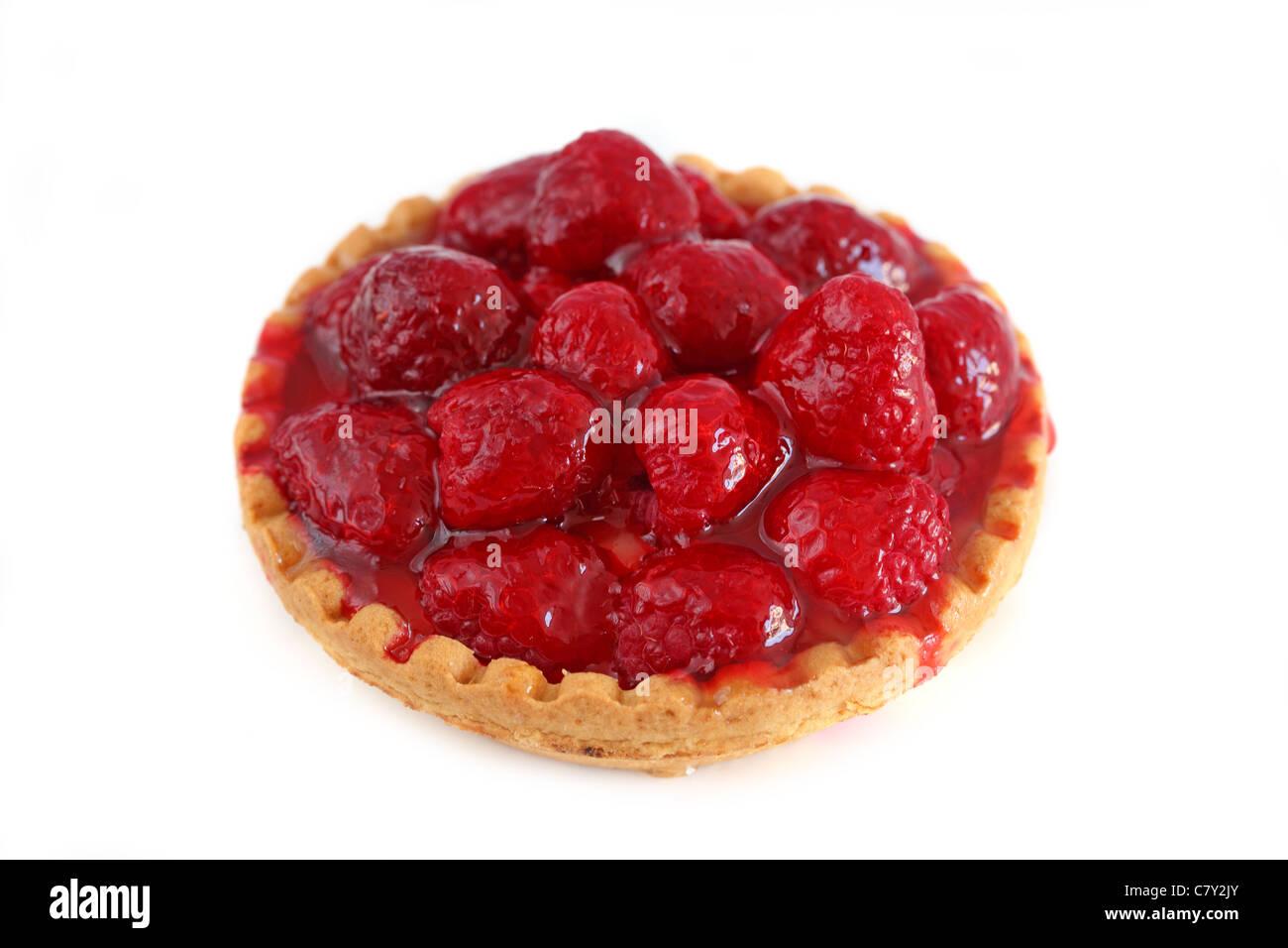 Tartelette aux framboises Raspberry Tart - Stock Image