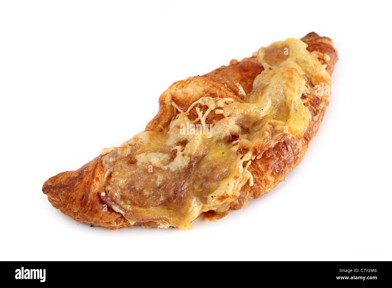 Croissant jambon fromage Ham Cheese Croissant - Stock Image
